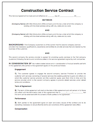 Remodeling Contract Template Sample Exampple Of Renovation