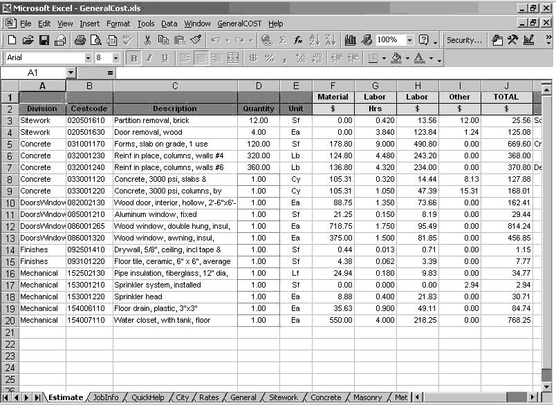 Estimating Sheet  BesikEightyCo