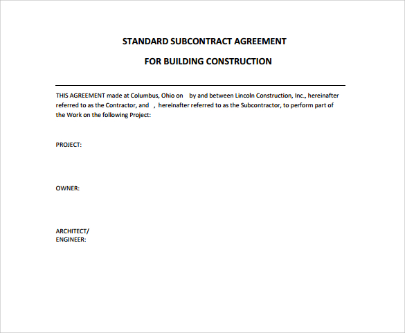 Construction Contract Templates  Open Door Construction