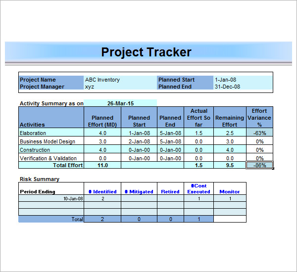 Project Management Template Excel