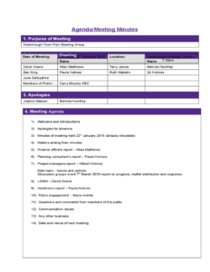 construction template project meeting minutes template sample l1